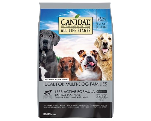 CANIDAE DOG ALL LIFE STAGES PLATINUM LESS ACTIVE 13.6KG