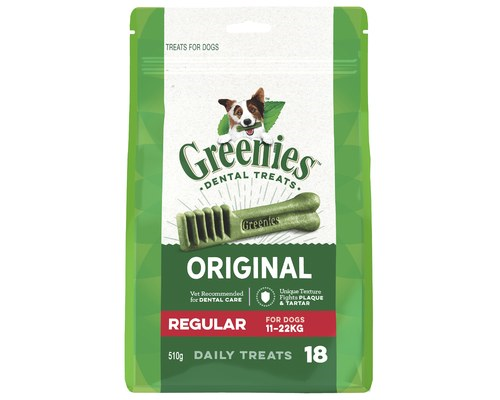 GREENIES REGULAR 11-22KG 18PK