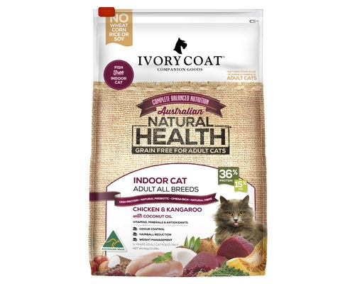 IVORY COAT CAT INDOOR CHICKEN & KANGAROO GRAIN FREE 6KG