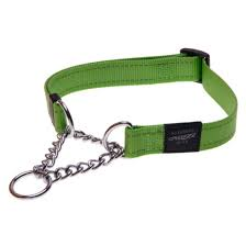 SNAKE MEDIUM DOG OBEDIENCE DOG COLLAR LIME